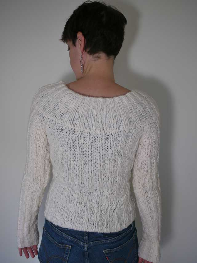 EXPRESS Chunky Cable Knit Wool Sweater Womens M | eBay