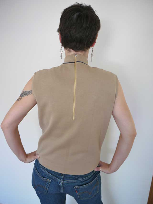 Vtg 60s wool mock turtleneck sleeveless tank shirt ebay for Sleeveless mock turtleneck shirts