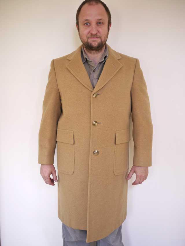 Vtg 50s Mongolian Camel Hair Merino Wool Mens Overcoat Ebay