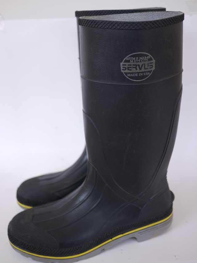 vtg servus steel toe rubber fireman boots 12 ebay