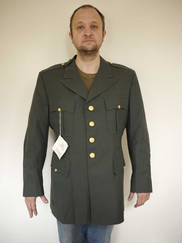 Vintage US ARMY Enlisted Military WOOL Jacket Tunic Dress ...
