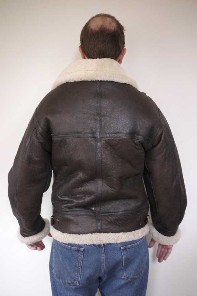 Sheepskin Leather Bomber Jacket Men