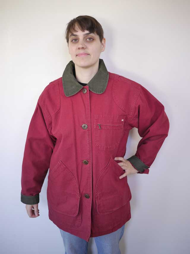 Vintage LL BEAN Red Cotton CANVAS Barn Jacket WOOL Liner ...