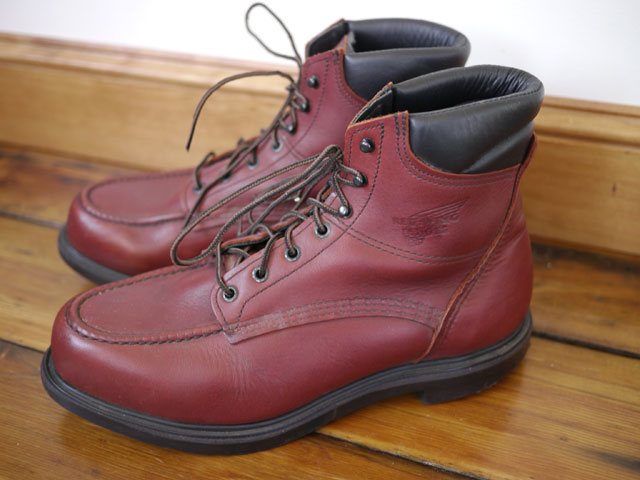 "Vintage RED WING Leather Work ""Model 202"" BOOTS Mens USA ..."