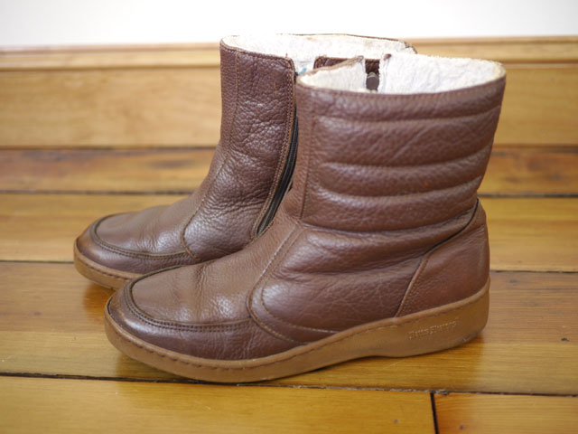 Vtg 70s BATES FLOATERS Leather WOOL LINED Snow Rain Euro