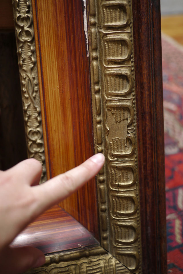 This frame originally housed an 1850s charcoal drawing (we kept it for ...