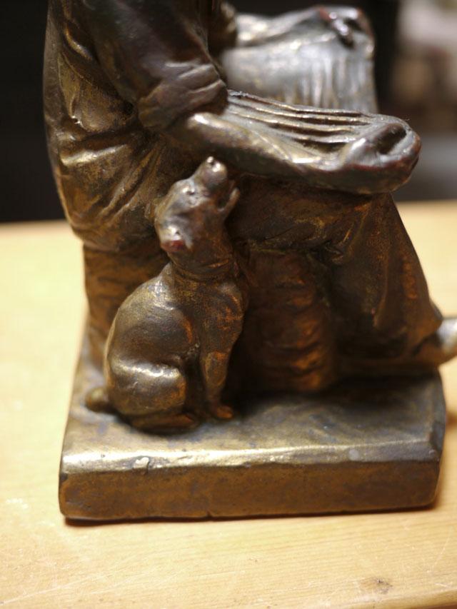 Vintage antique 1910 armor bronze new york dutch couple bookends sculptures 7 ebay - Armor bronze bookends ...