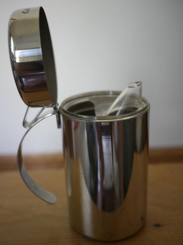 cuisinart stainless steel modern italian olive oil cruet container dispenser cep ebay. Black Bedroom Furniture Sets. Home Design Ideas
