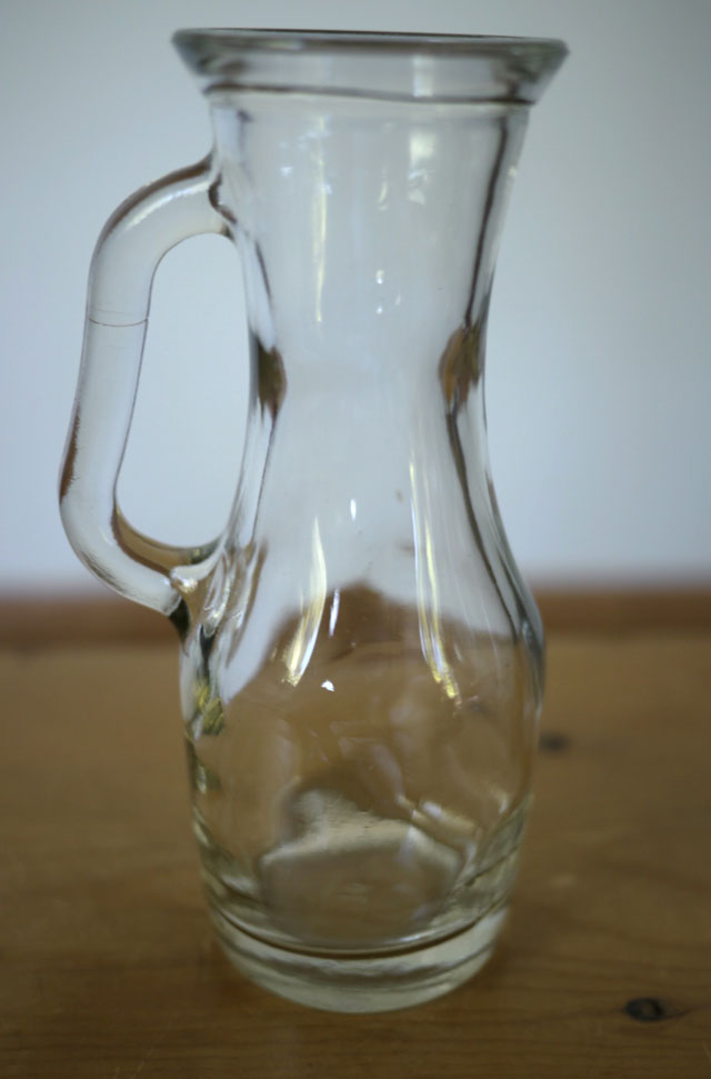 Vintage Thick Glass Small Wine Vinegar Oil Cruet Carafe