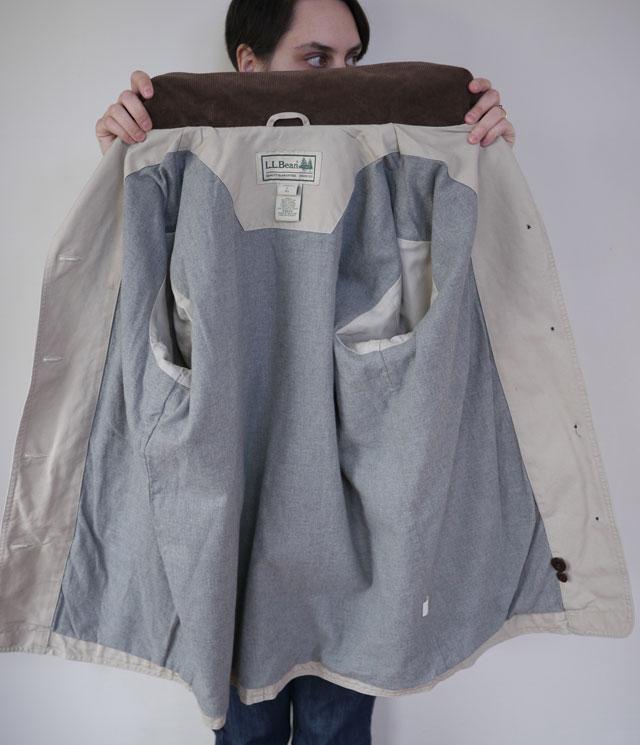 Ll Bean Cotton Canvas Amp Corduroy Barn Field Jacket Womens