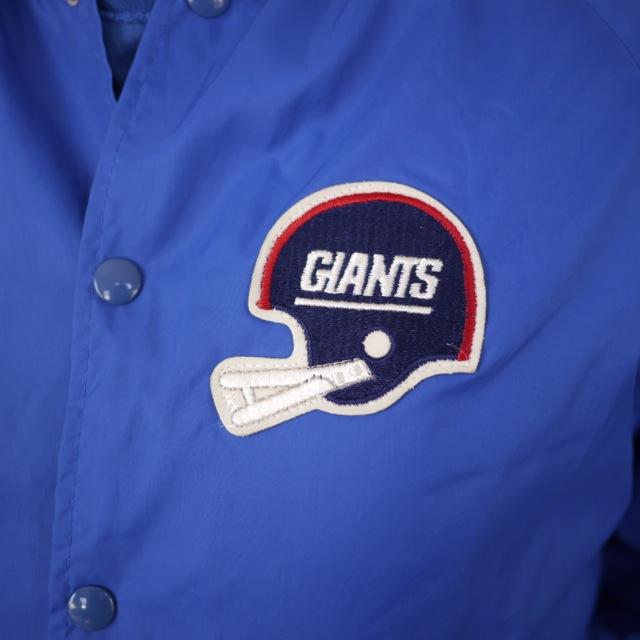 Vintage NFL New York GIANTS Nylon Letterman Windbreaker Parka Jacket M USA