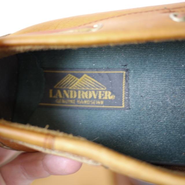 Vintage Land Rover Mens Loafer Driving Moccasin Brown