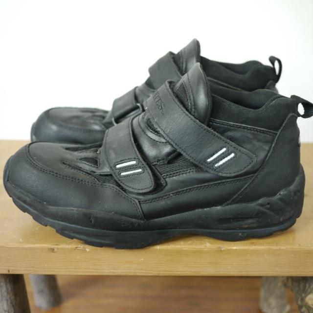 BATES Black Leather Nylon Canvas Heavy Duty Work Shoes Sneakers Mens 11 44 | EBay