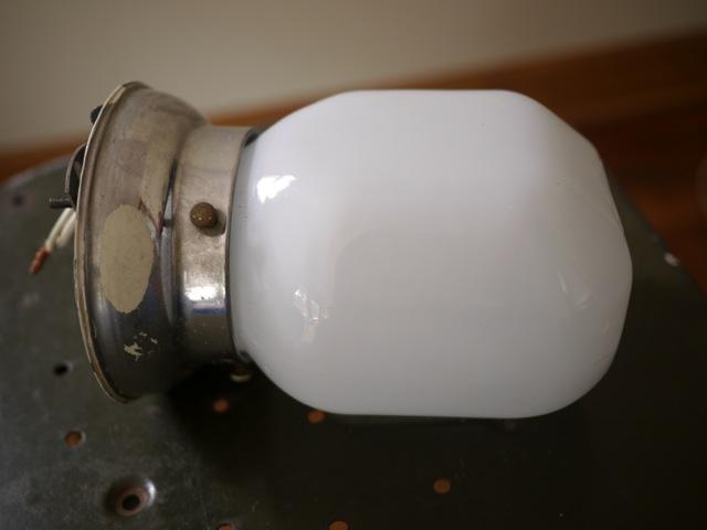 Vtg Art Deco Chrome Glass Lamp Light Fixture Wall Mount Sconce Bathroom Vanity eBay