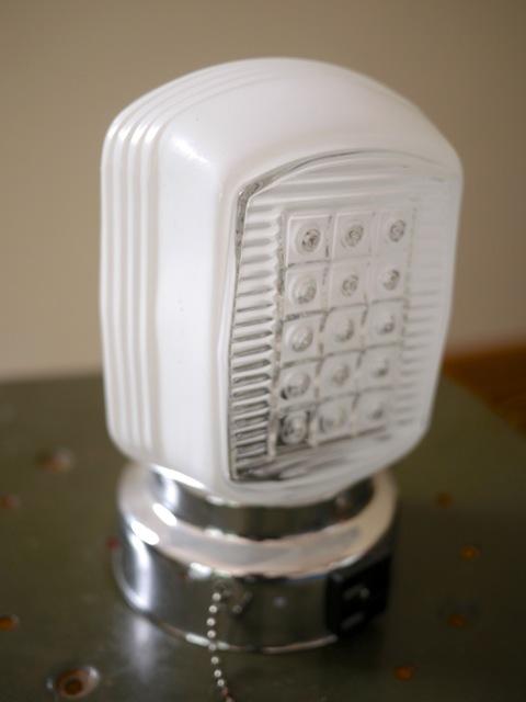 New vintage art deco glass lamp light fixture wall mount for Art deco bathroom vanity lights