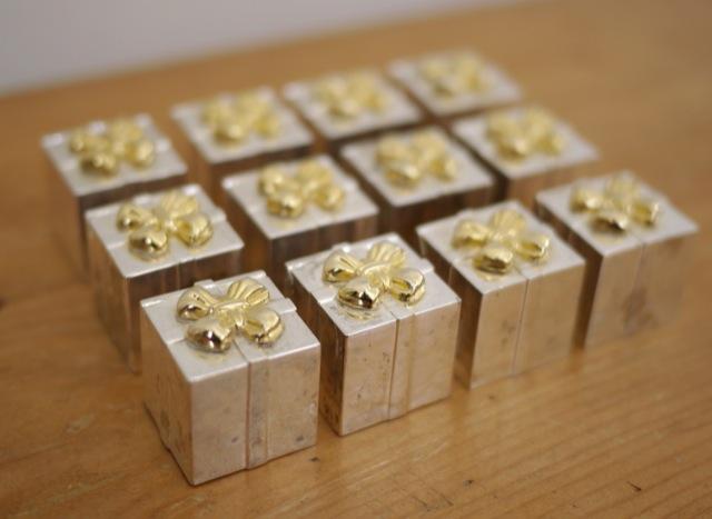 set 12 godinger silverplate gold christmas wedding present place card holders ebay. Black Bedroom Furniture Sets. Home Design Ideas