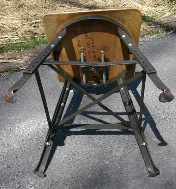 Vintage solid maple wood steel industrial drafting art