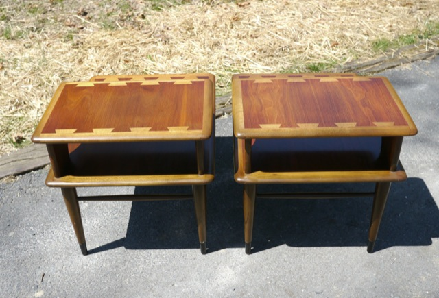 Pair vintage lane acclaim dovetail mid century danish for Danish modern reproduction